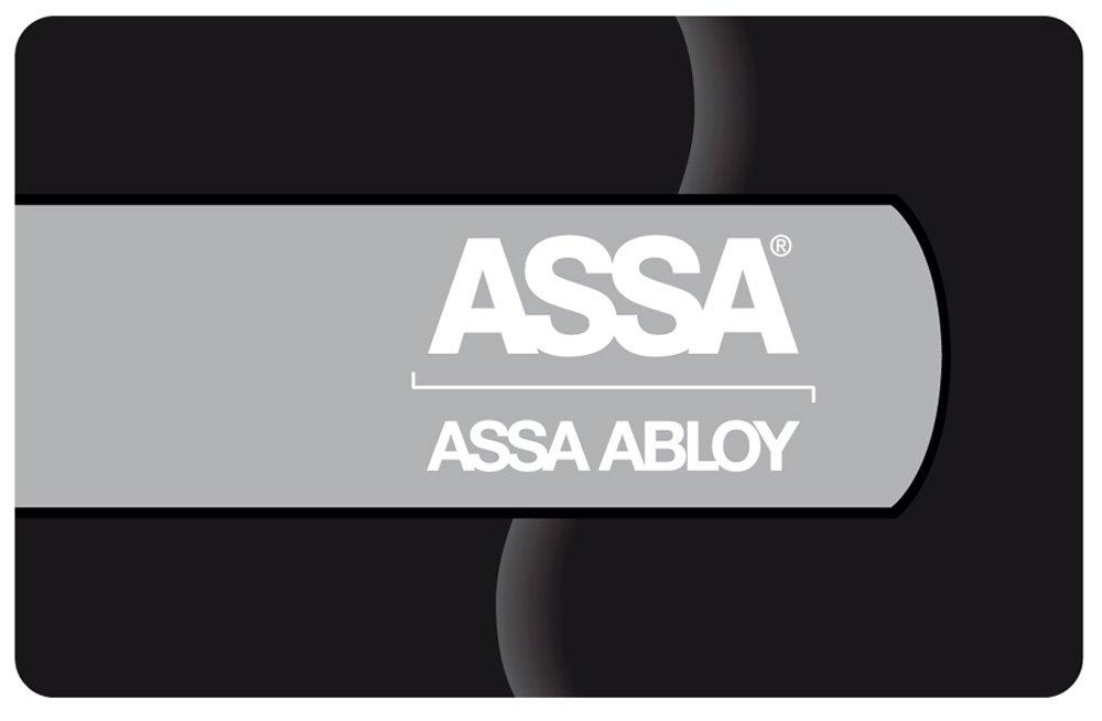 Kort med ASSA logo