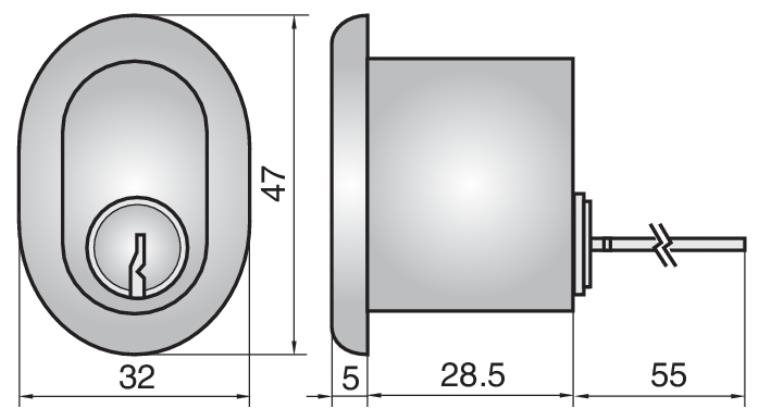 2407 - Single rim cylinder (outside)