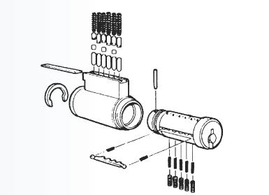 4465-5 - Key in knob Corbin russwin 25F65